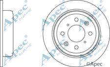 REAR BRAKE DISCS (PAIR) FOR HONDA CRX GENUINE APEC DSK252