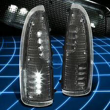 BLACK WHITE SMD LED SIDE VIEW MIRROR TURN SIGNAL LIGHT FOR 03-07 FORD SUPERDUTY