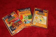 Lot of 3 Leap Pad Leap Frog Interactive Book and Cartridge NEW