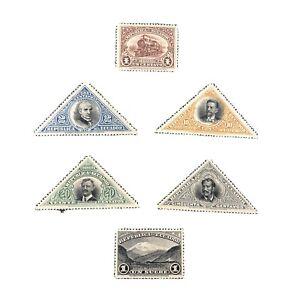 ECUADOR, SCOTT # 174/175(2)+177-180(4), TOTAL 6,1908 GUAYAQUIL-QUITO RAIL ISS MH