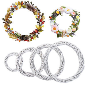 Christmas Artificial Vine Ring Rattan Wicker Wreath Hanging Garland Party Decor