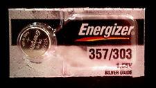 Energizer 357 303 (SR44SW SR44W)  Silver Oxide Battery Fast USA Shipping