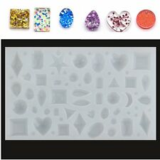 Jeteven Cabochon Silicon Pendant Mold For Epoxy Resin Jewelry Making DIY Craft