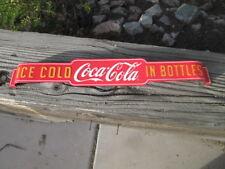COCA COLA DOOR PUSH ICE COLD BOTTLES  METAL COOL old school look Advertising