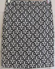 "Women's Size 0 J.Crew Pencil Skirt Black and White 20"" Length"