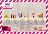 In The Night Garden 24 Stand-Up Pre-Cut Wafer Paper Cup cake Toppers