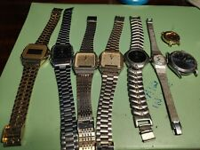 8 Watches used job lot - Seiko, Casio and More