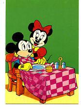Mickey-Minnie Mouse-Tablecloth Bib-Disney Characters-Italy Comic Art Postcard
