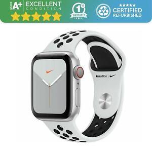 Apple Watch Series 5 Nike+ 40mm Cellular + GPS   Silver & Black