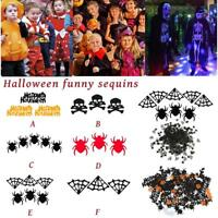 Halloween Party Confetti Witch Spooky Spider Web Halloween Sequin Skeleton Head
