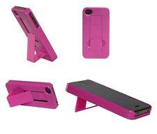 Etui dur rose foncé dos antidérapant avec support stand pour Apple iPhone 4 4G 4S
