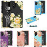 For Samsung Galaxy Note 10 Plus S10 S9 Peony Flower Hard Hybrid Back Case Cover