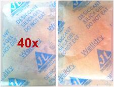 40x 10gm Reuseable Silica Gel Desiccant Moisture Absorber dessicant desicant