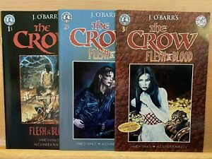 Rare The Crow Flesh And Blood 1-3 Kitchen Sink Comix