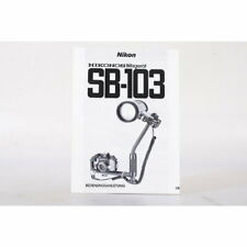 Nikon Nikonos Blitzgerät SB-103 Bedienungsanleitung / Gebrauchsanweisung DEUTSCH