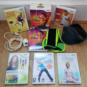Wii Fitness Games Bundle & Sports Accessories Zumba Belt EA Sports Active & More