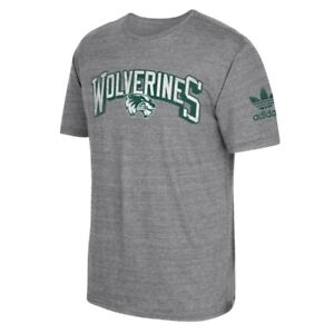 "Utah Valley Wolverines NCAA Adidas ""Deadstock Arch"" Team Grey Tri-Blend T-Shirt"
