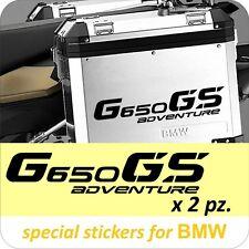 2 Adesivi Stickers BMW G 650 gs valigie adventure R GS