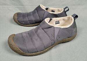 Keen Cush Howser Gray Nylon Quilted Lined Slip On Loafers Men's 11 Fur Warmth