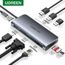 Ugreen USB 3.0 HUB PD Charger USB-C to HDMI VGA Card Reader Ethernet Adapter