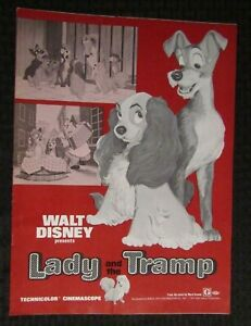 """1971 LADY AND THE TRAMP 11x15"""" Pressbook & Ad Pad FN+ 6.5 Disney 18pgs"""