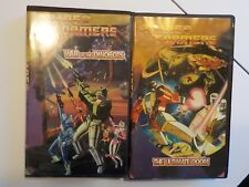 RARE G1 Transformers Canada release Exclusive Cartoon VHS Tape Lot of 2 Dinobots
