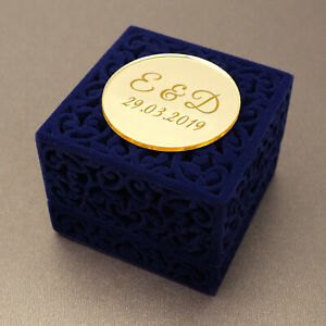 Personalised Velvet Wedding Ring Box Jewelry Box Velvet Engagement Ring Holder