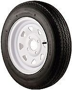 """12"""" Trailer Wheel & Tire Assembly 530x12B  Mounted 4 Hole/Spoke 840 Load Rated"""