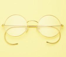 Exquisit 46mm Round gold wire rim Eyeglass frames Eyewear Vintage glasses RX