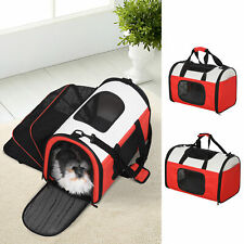 Soft-Sided Pet Carrier Expandable Foldable Travel Bag Pet Carrier for Dogs, Cats