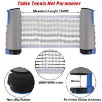 Tischtennisnetz ausziehbar Netz Tischtennis überall Ersatznetz für Unterweg Neu