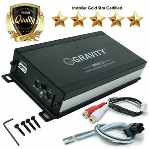 Gravity 2 Channel Mini Amp True 300W RMS  Micro Amplifier Compact Motorcycle Car
