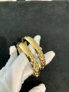 22K 22ct Carat Gold Filled Lady's,Woman's Bracelet/Bangle 57grams Set x2 Bangles
