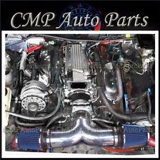 BLACK-BLUE 1994-1996  CHEVY IMPALA SS CAPRICE 4.3L 5.7L V8 DUAL AIR INTAKE KIT