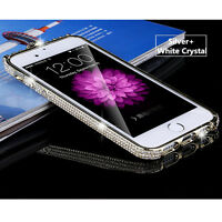 Luxury Bling Diamond Crystal Metal Frame Bumper Case Cover For iPhone 7 / 7 Plus