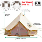 4 Season Camping Hiking Bell Tent Cotton Canvas Stove Jacket 16.4ft Yurt Tent