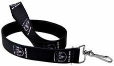 "Lanyard 1"" Key Chain Ring Neck Card ID Dodge Ram 1500 Black Silver Logo"