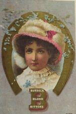 1870's-80's Burdock Blood Bitters Quack Medicine Lovely Lady Horseshoe P56