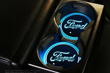2PCS Fit Colorful LED Car Cup Holder Pad Mat Auto Atmosphere Lights New For Ford