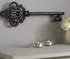 Vintage Castle Key Hanging Metal Wall Art, Elegant Home Decor Living Room Hall