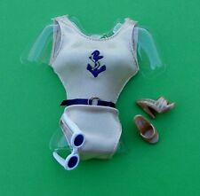 NAUTICAL is NICE! GOLD one-piece MAILLOT SWIMSUIT w ACCESSORIES Barbie Ensemble