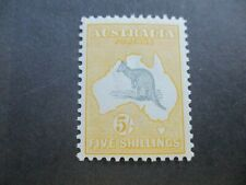 Kanagroo Stamps: 5/- YELLOW 3rd Watermark MINT  - Great Item (e325)