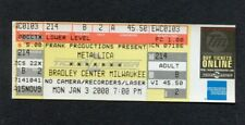 2000 Metallica Kid Rock Sevendust Unused Concert Ticket Milwaukee WI M2K