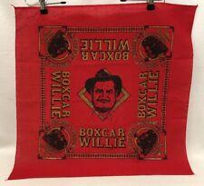 Boxcar Willie Theatre & Museum Brandson MO Cotton Square Handkerchief Red