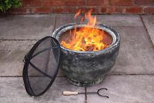 Granite Effect Clay Fire Bowl Patio Heater Fire Pit Garden Heater Incinerator