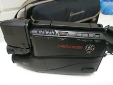 GE VHS Camcorder Video Camera Incl 2 Battery Packs Charger and Soft Carry Case