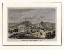 Riedenburg - Altmühltal - kolorierter Holzstich 1864