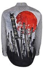 NEW Robert Graham $248 SWORD FIGHT Embroidered Katana Sunrise Sport Shirt