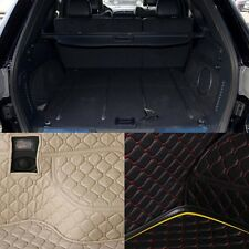 PU Rear Trunk Cargo Liner Protector Mat Seat Back Pad For Jeep Grand Cherokee