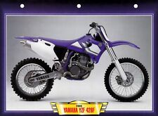 CARTE FICHE TECHNIQUE MOTO  /  YAMAHA  YZF  426 F .  2000 .   NEUVE